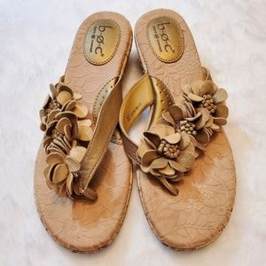 B.O.C. by Born Floral Sandals, Gold